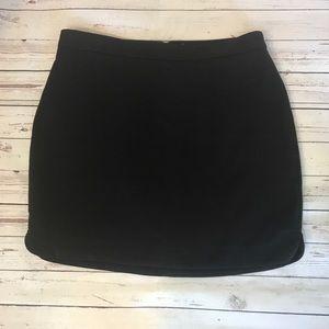 Forever 21 Black Dolphin Hem Skirt